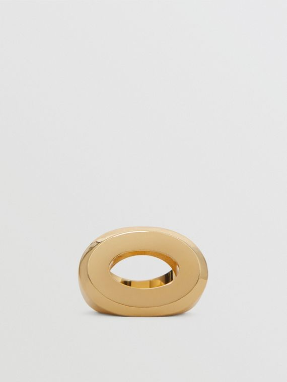 Gold-plated Cut-out Detail Ring in Light