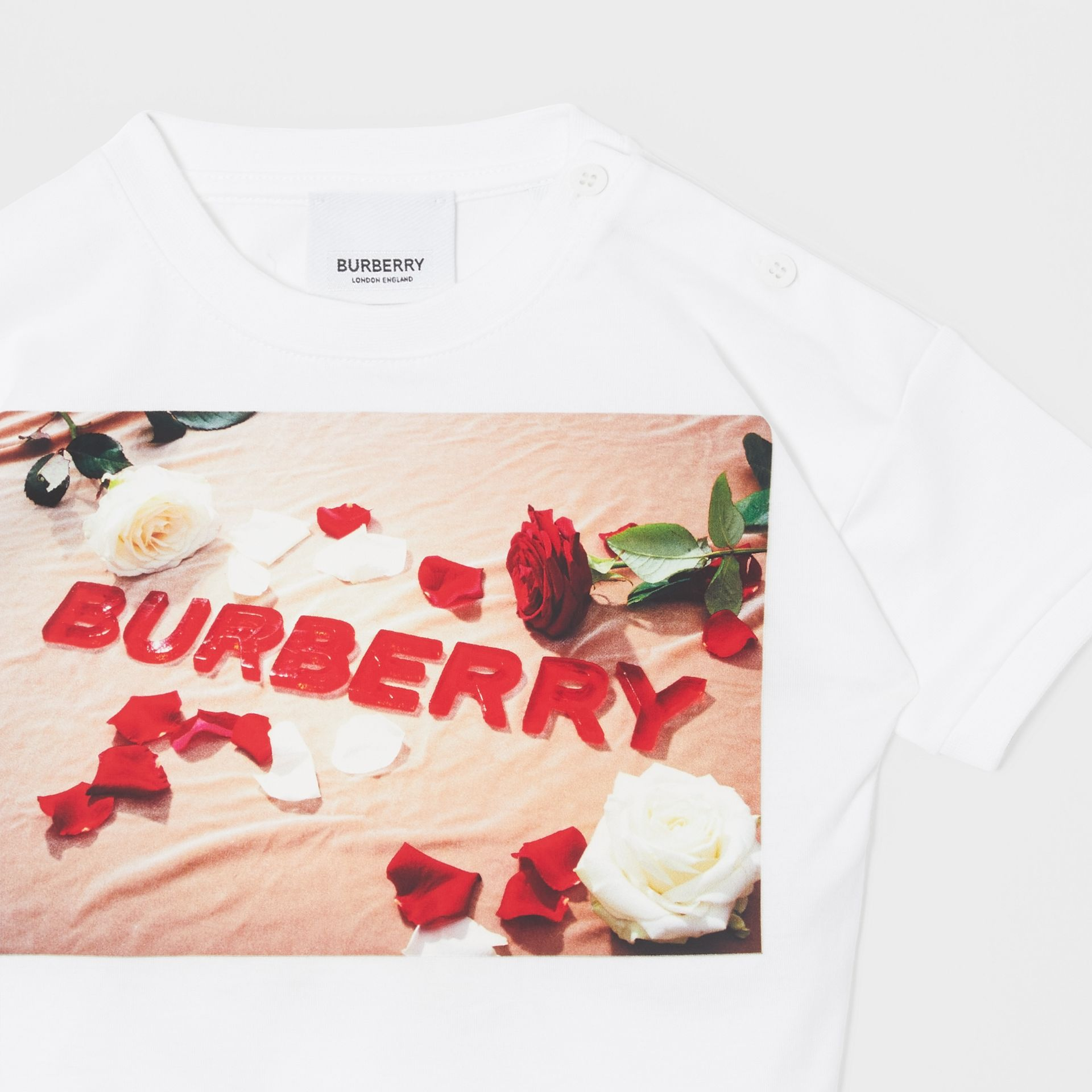 Confectionery Print Cotton T-shirt in White - Children | Burberry Canada - gallery image 4