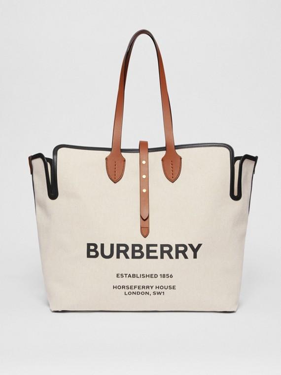 The Large Soft Cotton Canvas Belt Bag in Malt Brown