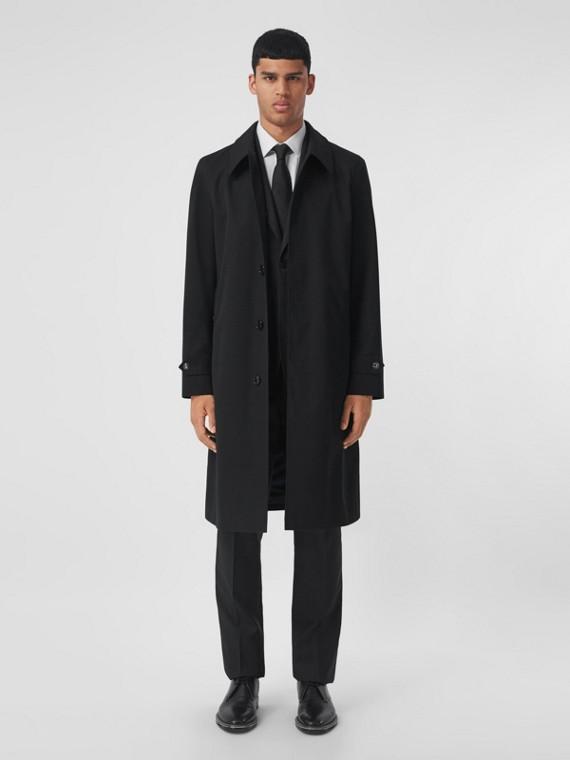 Cotton Gabardine Car Coat in Black