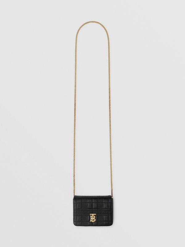 Micro Quilted Lambskin Lola Bag in Black - Women | Burberry - cell image 2