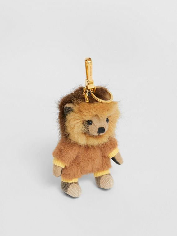 Thomas Bear Charm in Lion Costume in Archive Beige