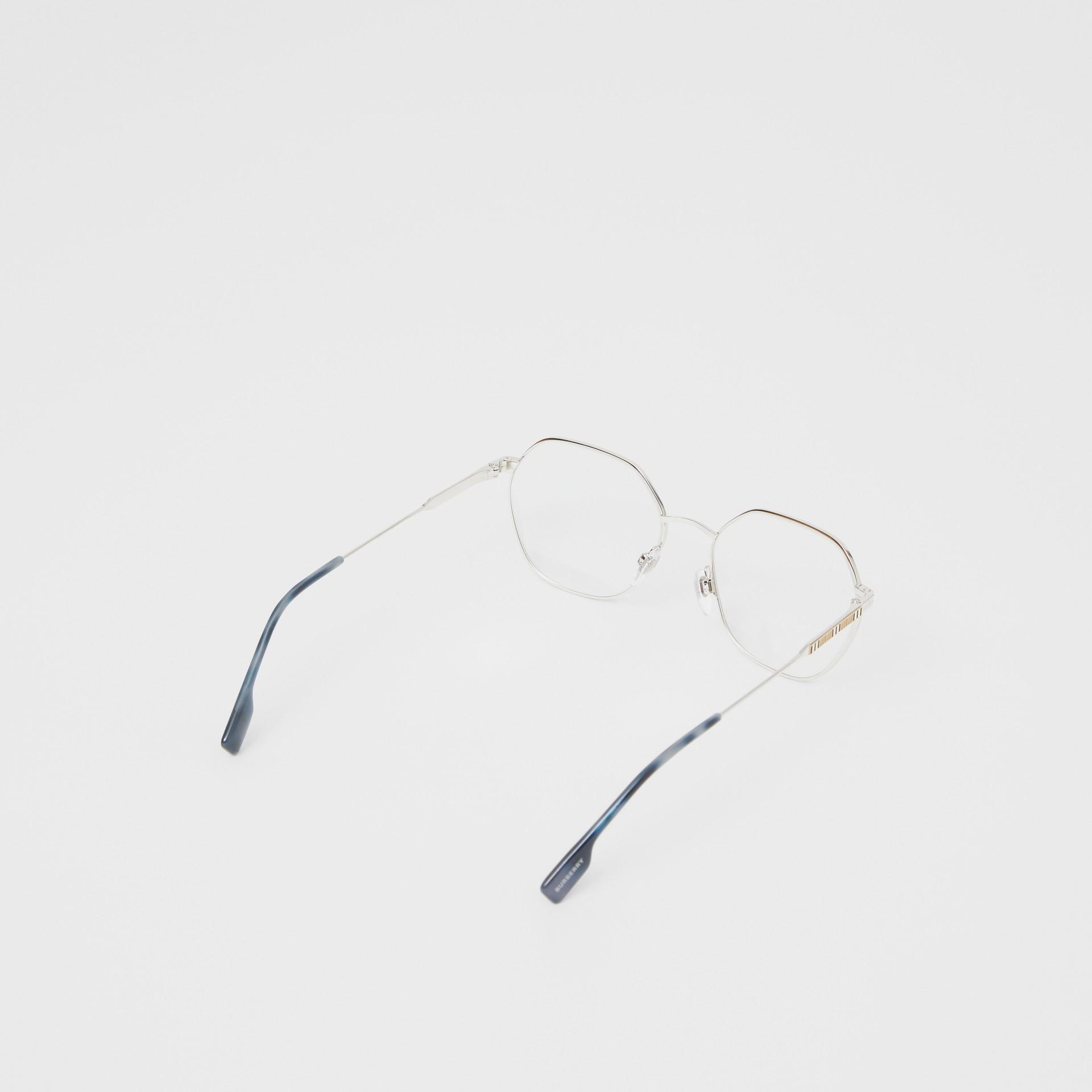Geometric Optical Frames in Grey Tortoiseshell - Women | Burberry - gallery image 4