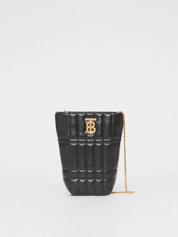 Micro Quilted Lambskin Lola Bucket Bag in Black