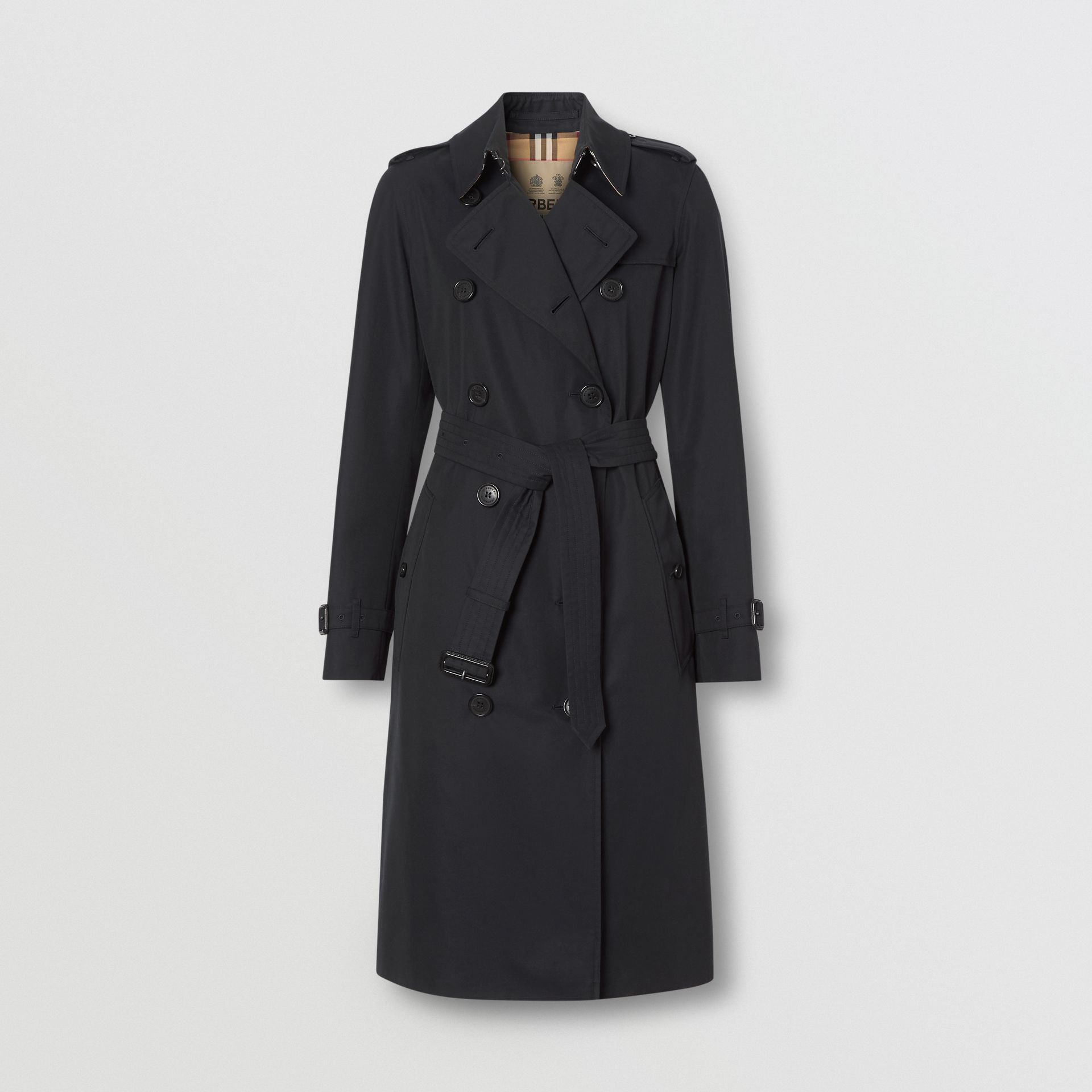 The Long Kensington Heritage Trench Coat in Midnight | Burberry - gallery image 2