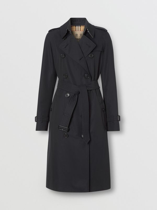 The Long Kensington Heritage Trench Coat in Midnight | Burberry - cell image 2