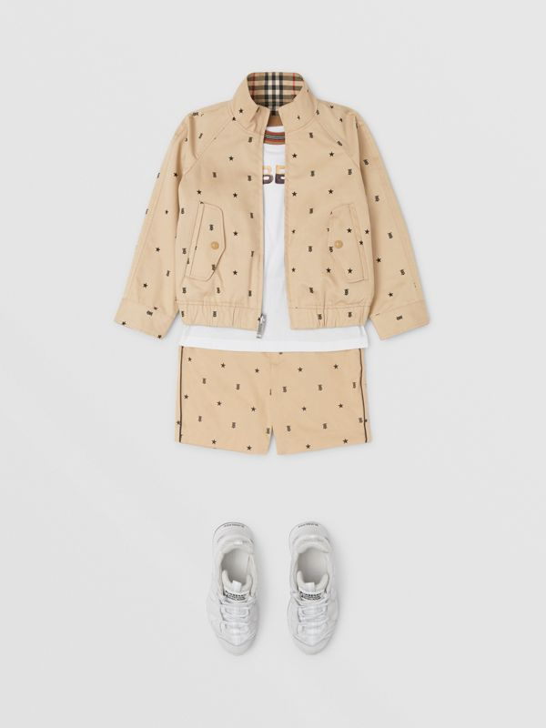 Reversible Star and Monogram Motif Cotton Jacket in Sand | Burberry Canada - cell image 2