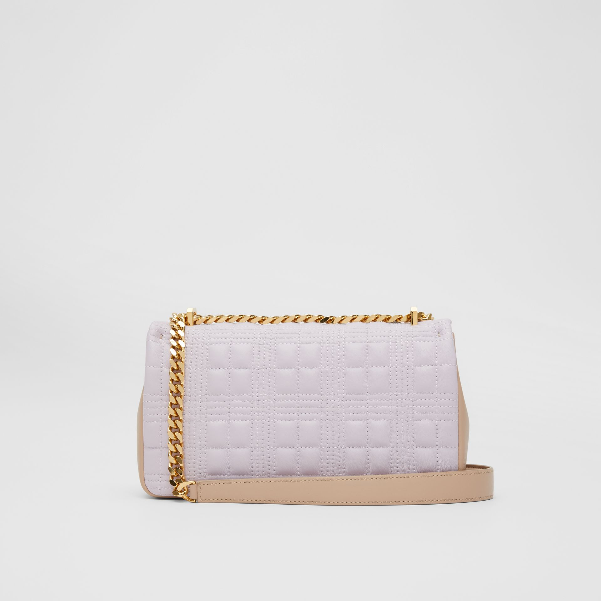Small Quilted Two-tone Lambskin Lola Bag in Pale Thistle/soft Fawn - Women | Burberry - gallery image 7