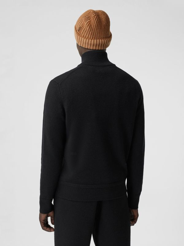 Monogram Motif Cashmere Funnel Neck Sweater in Black - Men | Burberry - cell image 2