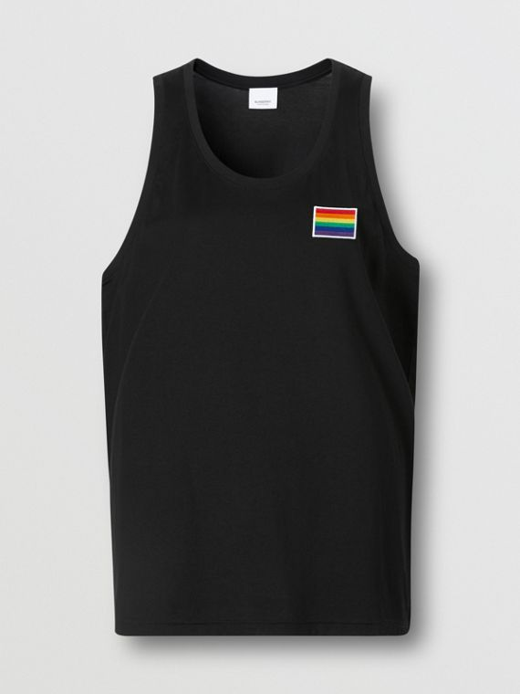 Rainbow Appliqué Cotton Vest