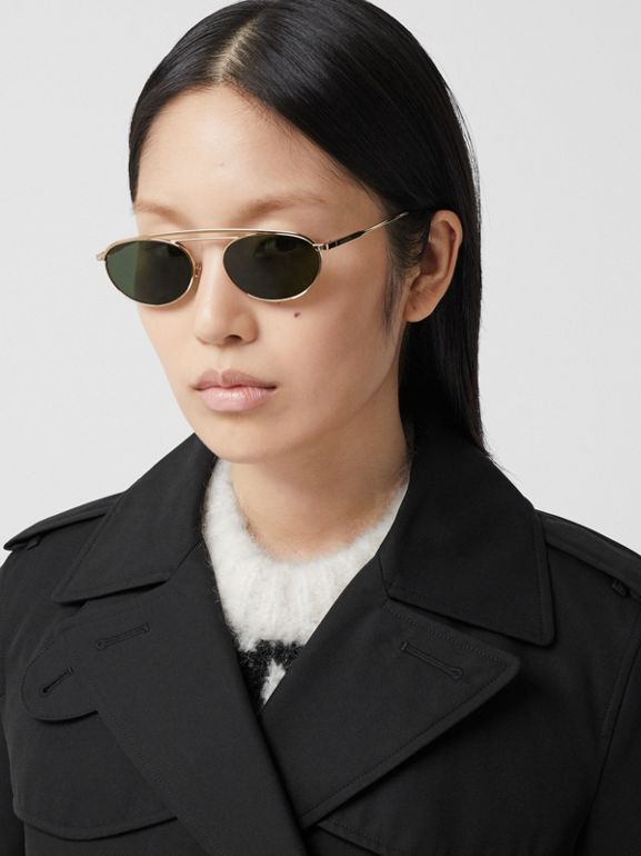 The Short Islington Trench Coat in Black - Women | Burberry - cell image 1