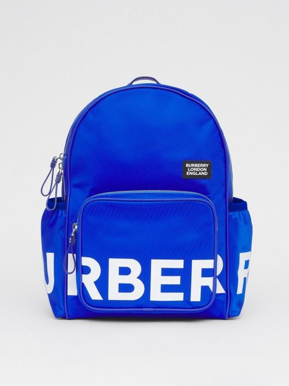 Logo Print ECONYL® Backpack in Cobalt Blue