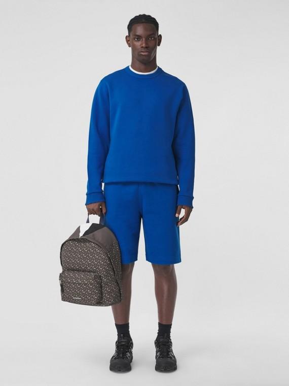 Location Print Cotton Blend Sweatshirt in Midnight Navy