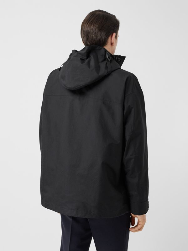 Logo Appliqué Nylon Hooded Jacket in Black - Men | Burberry - cell image 2