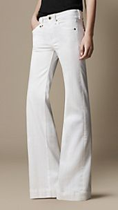 White Wash Flare Fit Jeans