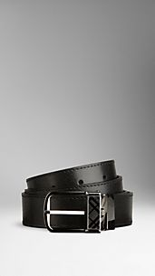 Check Detail Reversible Leather Belt