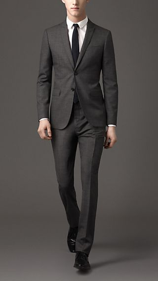 Modern Fit Virgin Wool Micro-Check Suit