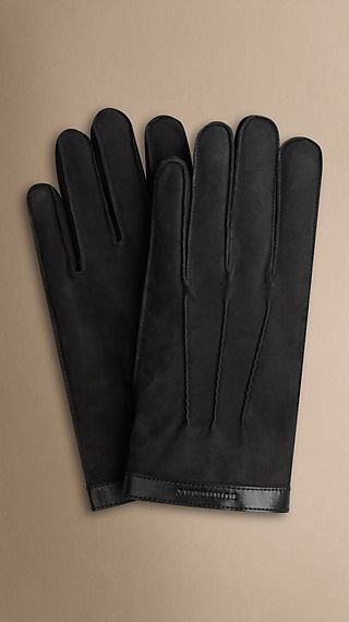 Nubuck Fur-Lined Gloves