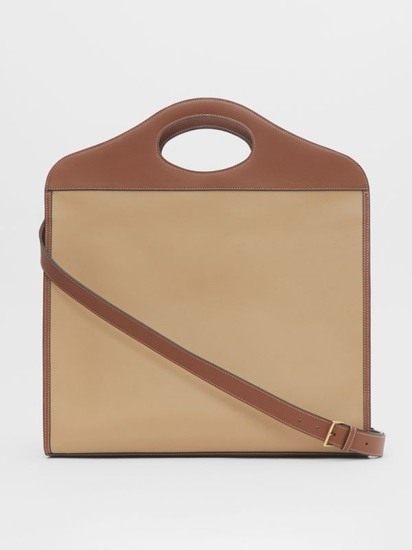 Extra Large Horseferry Appliqué Leather Pocket Bag in Honey - Women | Burberry - cell image 3
