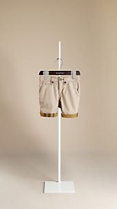 Check Lined Cotton Shorts