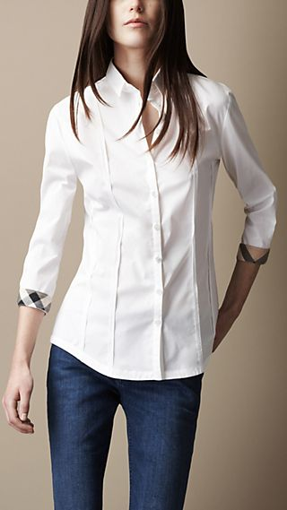 Seam Detail Check Cuff Shirt