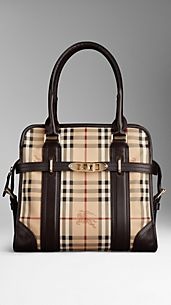Medium Haymarket Check Portrait Tote Bag