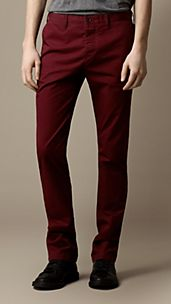 Slim Fit Cotton Twill Chinos