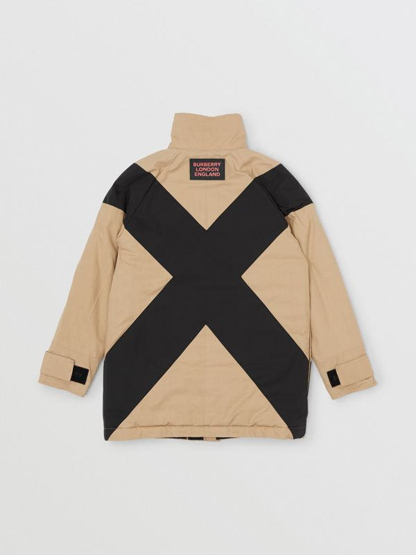 Panelled Down-filled Cotton Jacket in Honey   Burberry - cell image 3