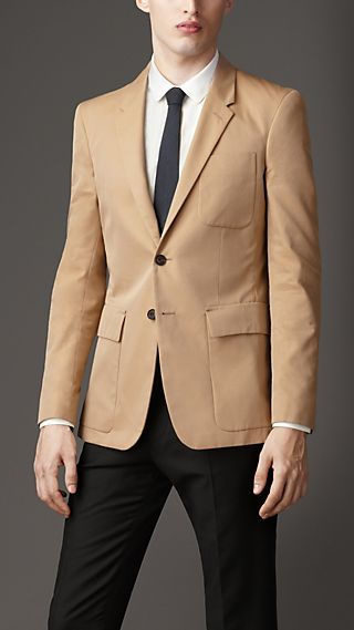 Modern Fit Cotton Gabardine Blazer