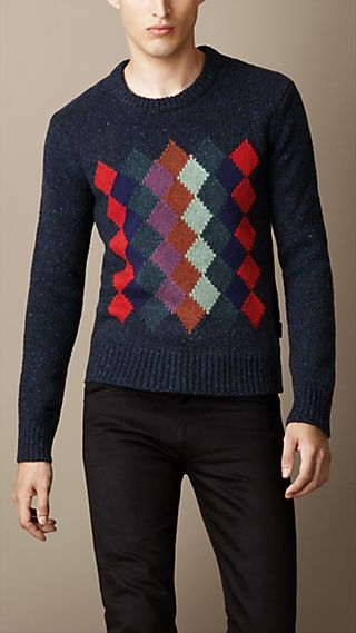 Argyle Lambswool Sweater