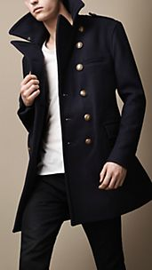Naval Wool Coat