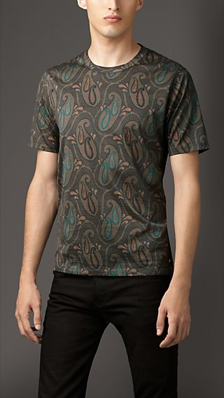 Paisley Cotton T-Shirt