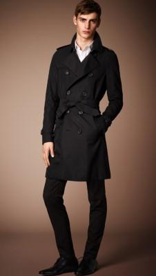黑色围巾搭配男