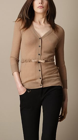 Bow Belt Cashmere Cardigan