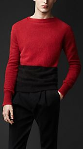 Colour Block Angora Sweater