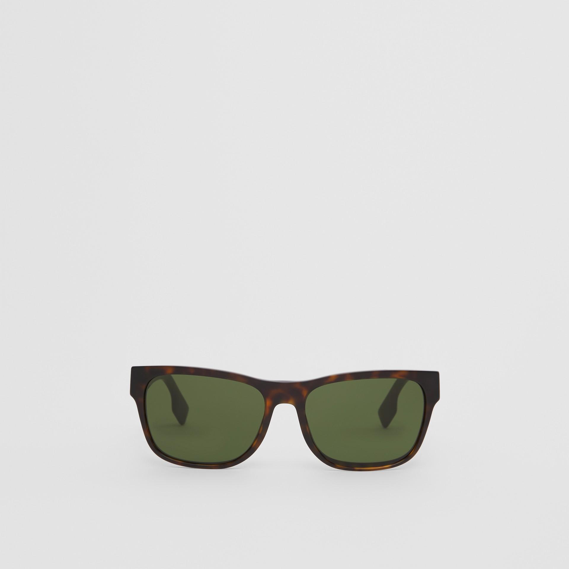 Óculos de sol com armação quadrada e logotipo (Casco  Tartaruga) | Burberry - galeria de imagens 0
