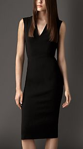 Structured Kickback Dress