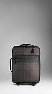Smoked Check Carry-On Suitcase