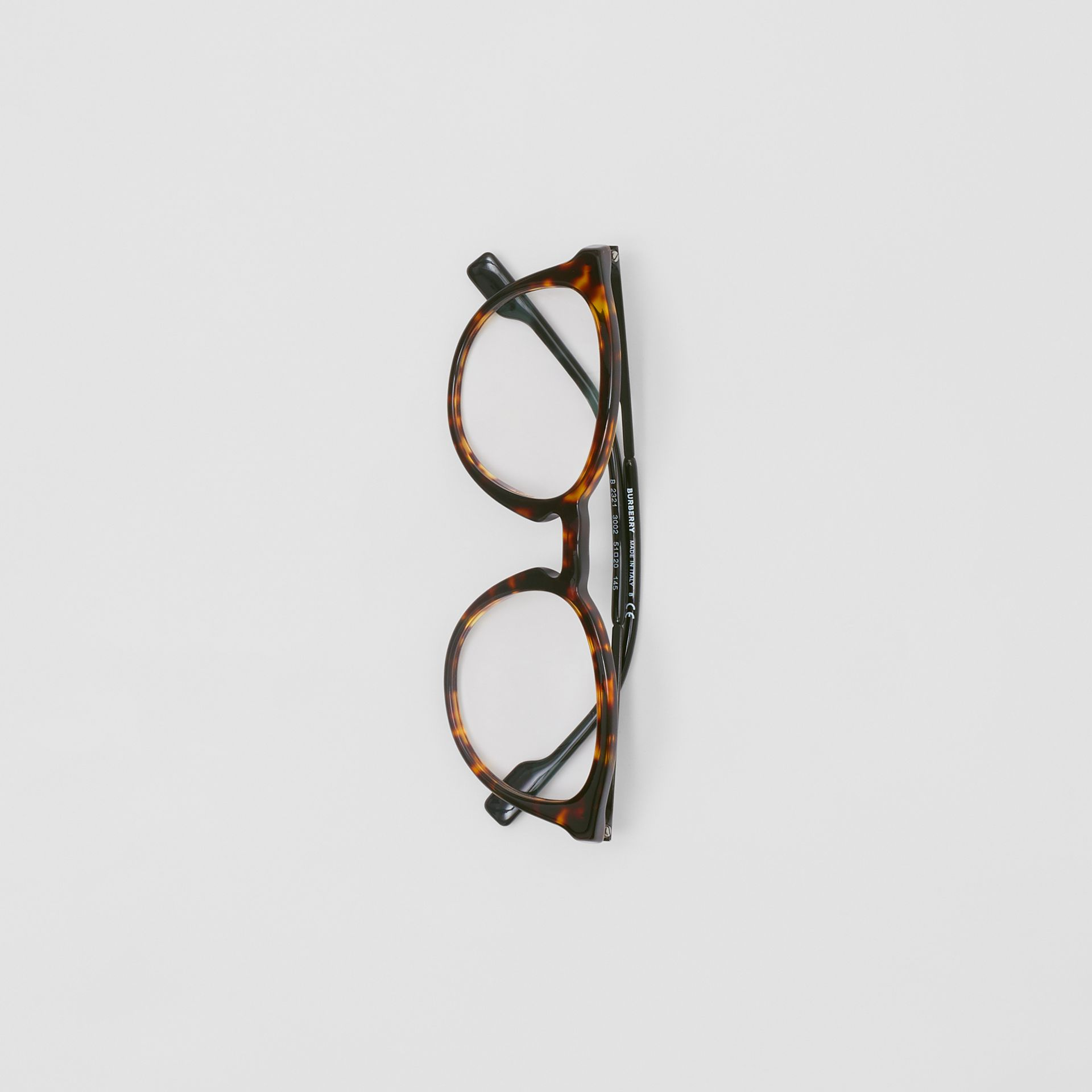 Round Optical Frames in Tortoiseshell - Men | Burberry - gallery image 3