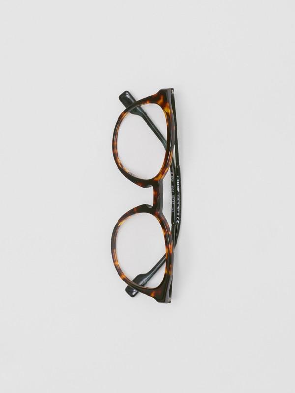 Round Optical Frames in Tortoiseshell - Men | Burberry - cell image 3