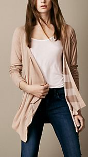 Cardigan a cascata double face