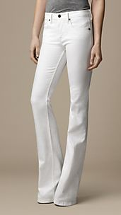 Hempton Optic White Bootcut Jeans