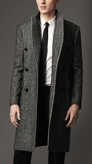 Herringbone Lambswool Coat