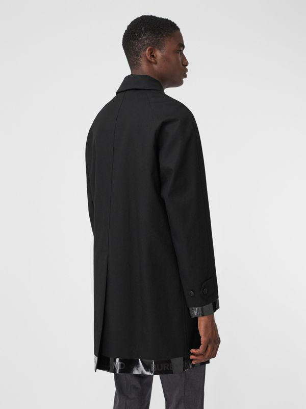 Logo Tape Cotton Car Coat in Black - Men | Burberry - cell image 2