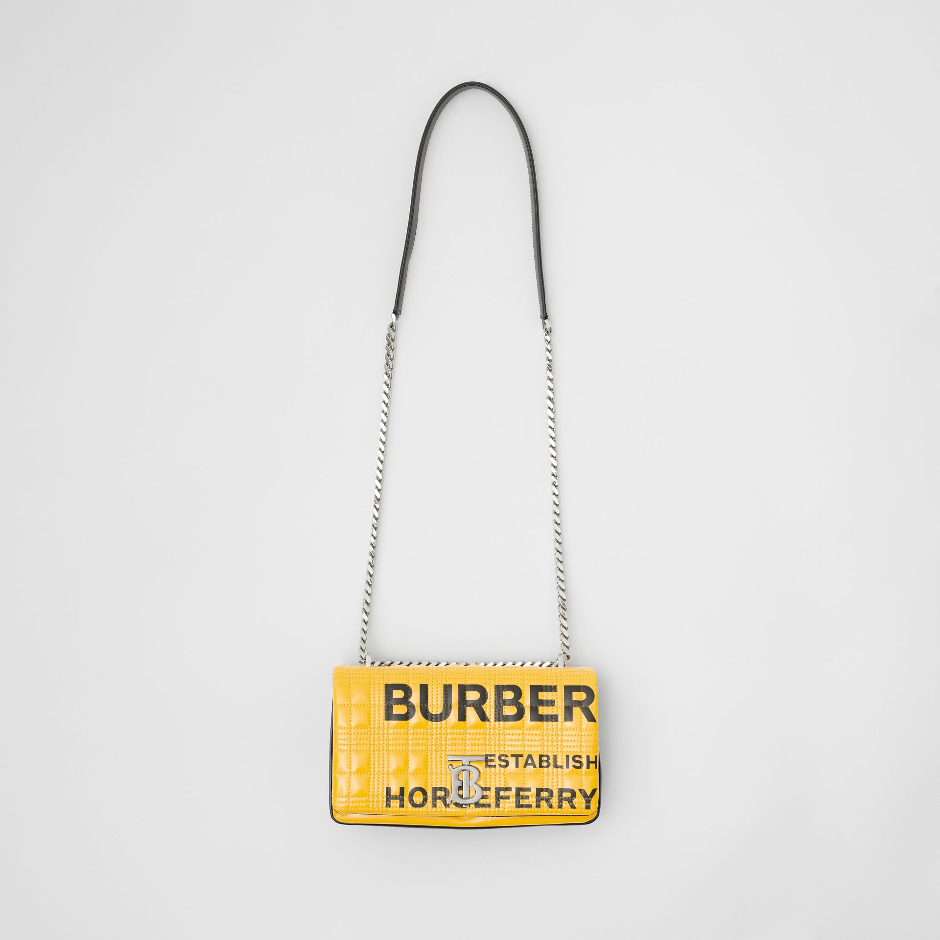 Small Horseferry Print Quilted Lola Bag in Yellow | Burberry Australia - gallery image 3