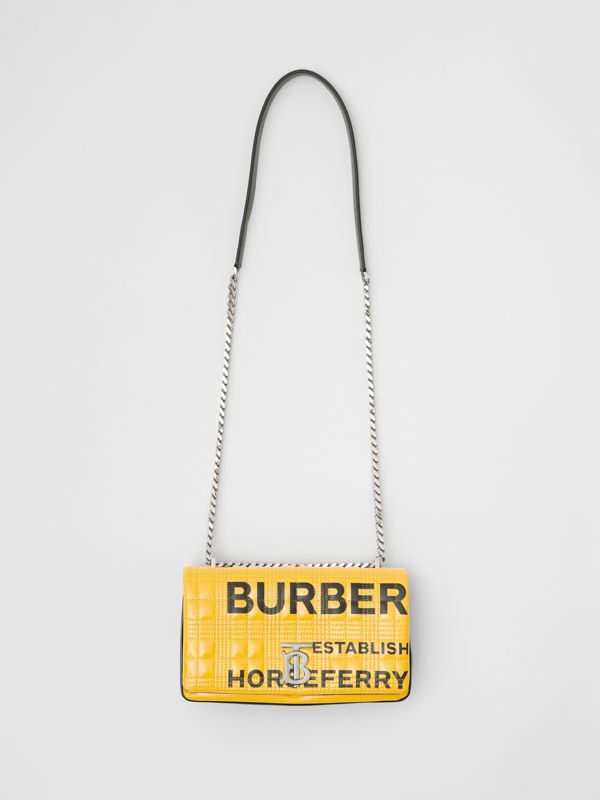 Small Horseferry Print Quilted Lola Bag in Yellow | Burberry Australia - cell image 3