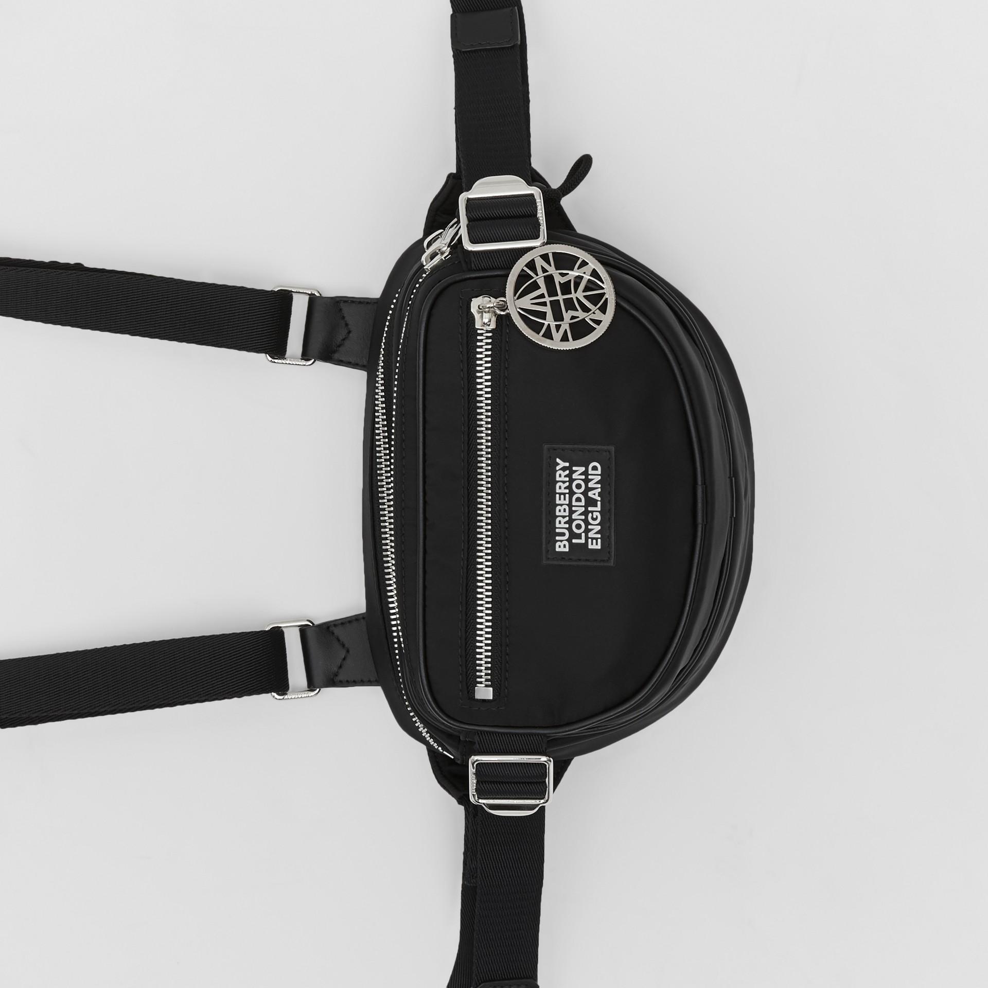 Logo Appliqué ECONYL® Cannon Belt Pack in Black | Burberry - gallery image 4