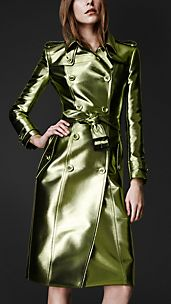 Trench coat metallico