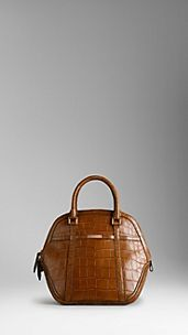 The Medium Orchard in Alligator Bridle Leather