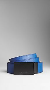 Colour Coated London Leather Reversible Belt